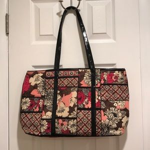 Mocha Rouge Patchwork Tote
